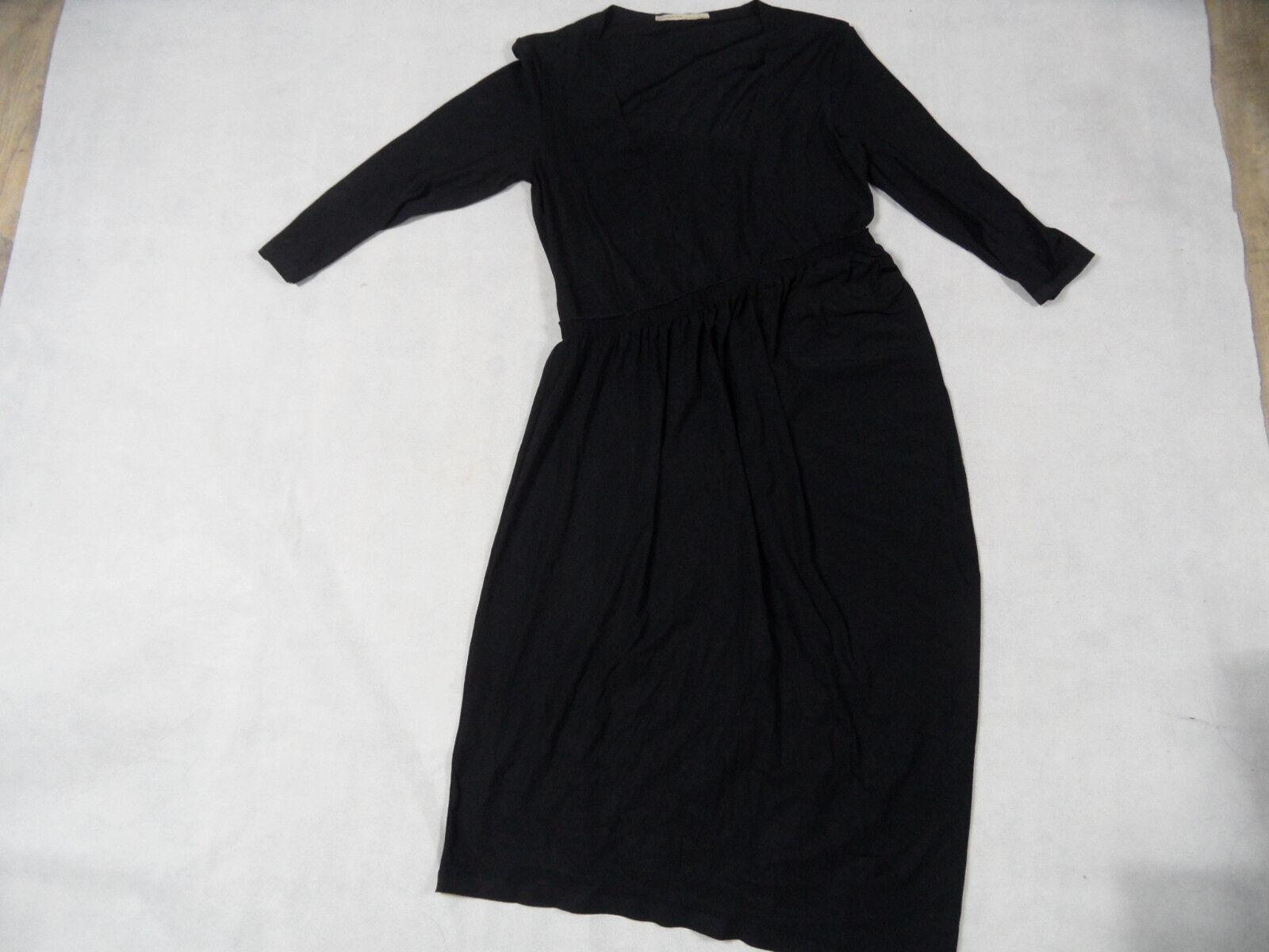 GIRBAUD schönes leichtes asymetrisches Kleid Lasercut schwarz Gr. 42 TOP BB1018