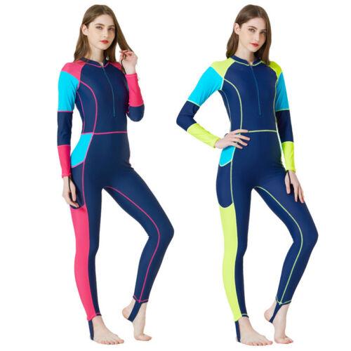 Women Full Body Scuba Surfing Suit Rash Guards Stinger One-Piece Dive Jumpsuit