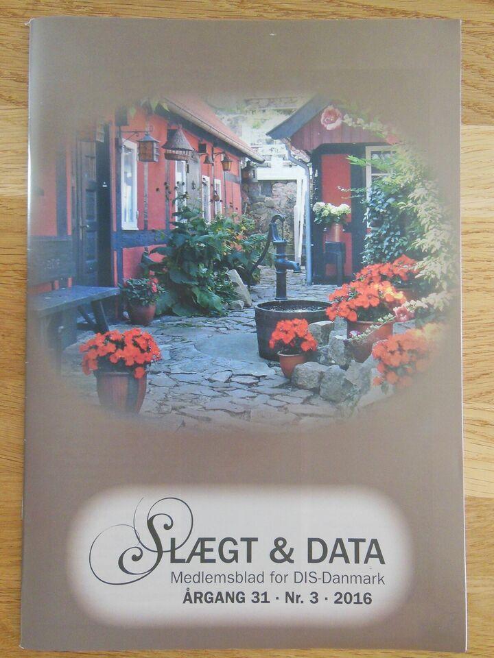 3 stk. meget fine hæfter, slægt og Data, 2016