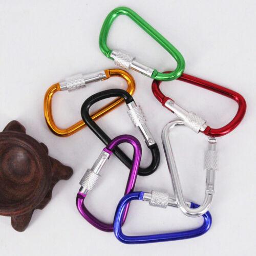 5x Aluminum Carabiner D-Ring Clip Snap Hook Climbing Key Chain Hiking Keys Rings