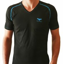 4cbdfe71b571 HOT Mens T-Shirt Bodybuilding Gym V-Neck Top Slim Fitness Sports MADE IN