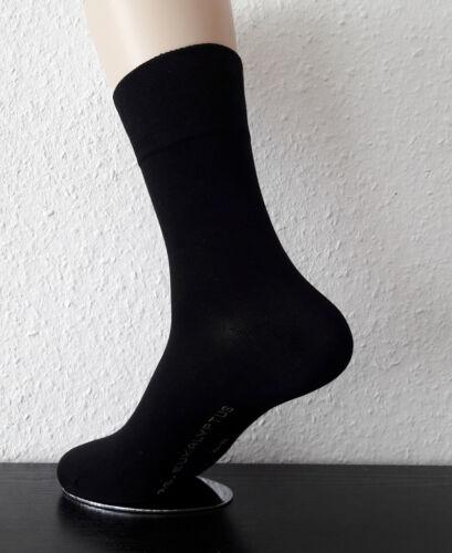 3 Paar Damen Eukalyptus Lyocell Socken antibakteriell ohne Gummi schwarz 35-42