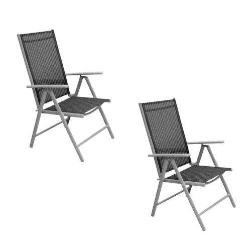 Alu Pliante Fauteuil 2 Pièce Delphi Noir Chaise de jardin à dossier haut chaise pliante Consul