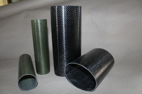CARBON FIBRE TUBE 8-10-12-14-16-18-20-21-22-24-25-27-28-29-30-32mm OD1m long 000