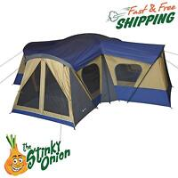 Family Cabin Tent 14 Person 4 Room 12 Windows Instant