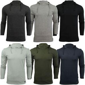 Mens-Hooded-T-Shirt-Brave-Soul-Morris-Long-Sleeve-Track-Top