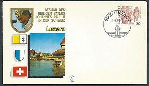 1984 Vaticano Viaggi Del Papa Svizzera Luzern - Sv Brillant