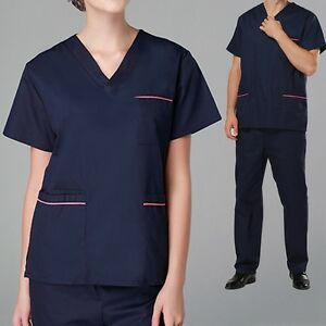 d2eb0ac0633 Image is loading Scrubs-Set-Summer-V-Neck-Hospital-Medical-Clothes-