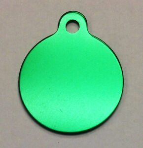 100 Wholesale blank round Circle wtab identification tags Anodized Aluminum bulk
