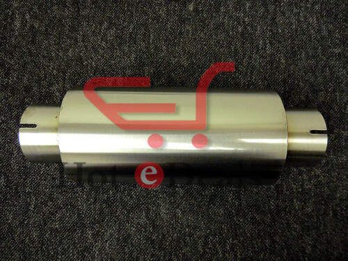 Clamp-on Stainless Exhaust Silencer 4 Body 18 length 76mm I.D Tig Welded 3
