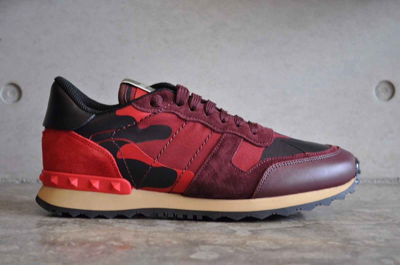 clienti prima reputazione prima VALENTINO VALENTINO VALENTINO Rockrunner Rosso scarpe da ginnastica mimetica 39.5 EUR  l'intera rete più bassa