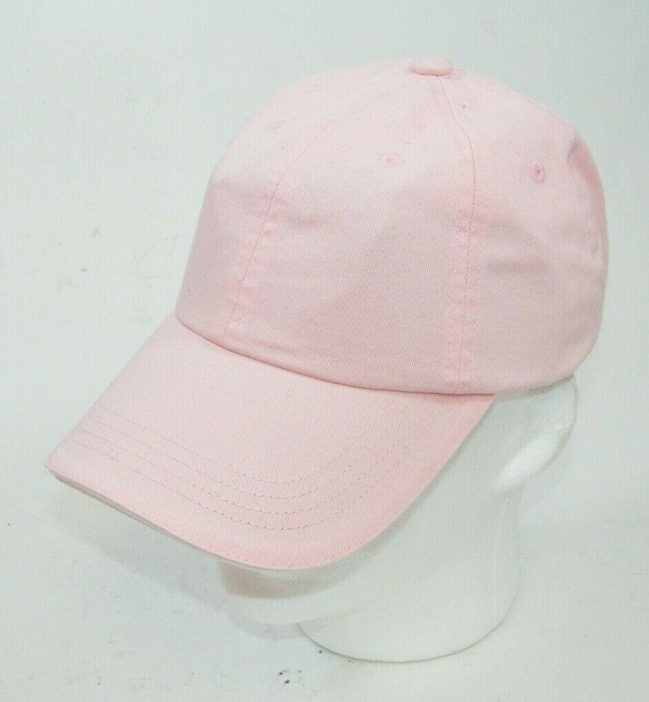 (7) PORT AUTHORITY PINK WITH WHITE STRIPE CLOSURE C830 SANDWICH BILL CAPS HATS