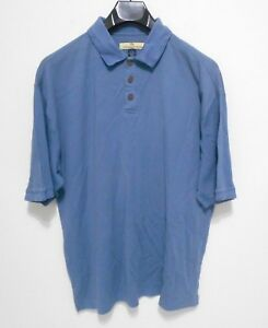 TOMMY-BAHAMA-Polo-Shirt-Men-039-s-Size-L-SILK-Blend-Short-Sleeve-Button-Casual