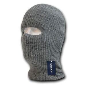 f69648b682d Decky Ski Mask Face Beanie One 1 Hole Braided Knit Ski Snowboard ...