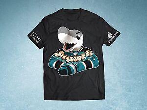 best service 03821 ac6b9 Details about NHL San Jose Sharks Hockey Sharkie Hug Shirt