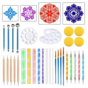 36pcs-Craft-Dotting-Tool-Pottery-Embossing-DIY-Painting-Stencil-Clay-Mandal-Pg