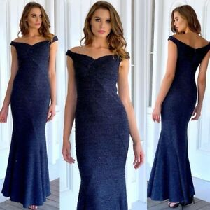 Gorgeous-Size-8-Maxi-Dress-Navy-NEW-Cocktails-Party-Engagement-Gown-Wedding