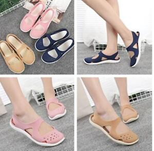 Women-Students-Comfortable-Flat-Sandals-Female-Pumps-Jelly-Beach-Hole-Shoes-New