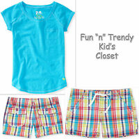 Ps Aeropostale Kids Girls Size 7 Or 8 Shorts Tee Shirt Top 2-pc Outfit Set