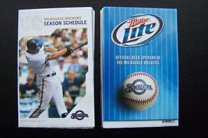 Milwaukee Brewers 2008 Baseball Pocket Season Schedule
