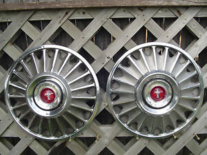 1967 67 Ford Mustang Hubcaps Wheelcovers Center Caps Antique Vintage