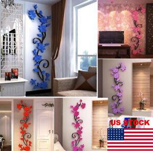 3D-Butterfly-Flower-Fairy-Floral-Wall-Sticker-Pretty-Home-Decor-Decals-Vinyl-Art