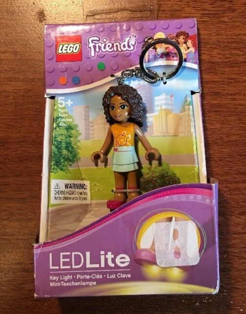 BRAND NEW LEGO FRIENDS 2-LED KEY KEYCHAIN LITE PUSH BUTTON FLASH LIGHT - ANDREA