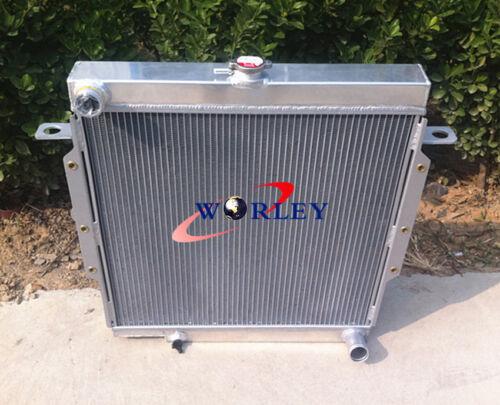 Aluminum Radiator for Toyota Land Cruiser Landcruiser 75 Serie HZJ75 90-01 /& FAN