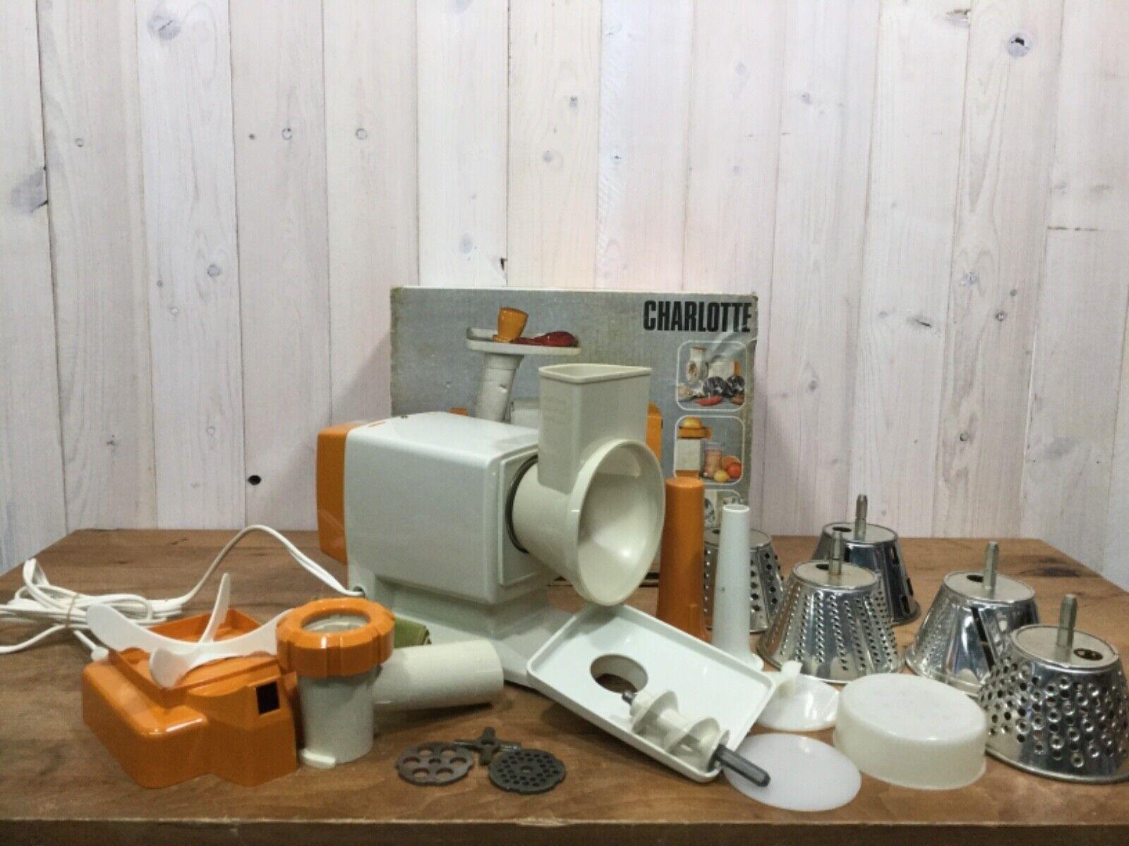 Vintage MOULINEX CHARLOTTE 308 Electric Meat Grinder Juicer Salad Maker