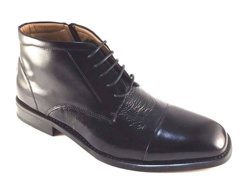 La Milano B5509 Black Leather Lace Up Men's Ankle Boots