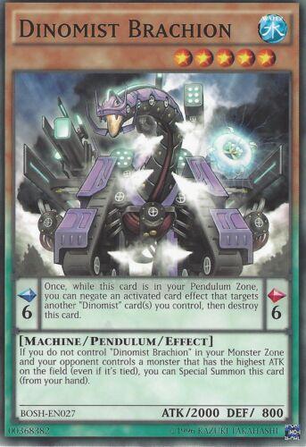 YU-GI-OH CARD DINOMIST BRACHION BOSH-EN027