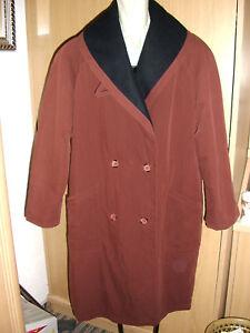 Kleidung & Accessoires Damen Mantel Kurzmantel Jacke Gr.40 Mit Schalkragen Rost Schwarz Gut FüR Antipyretika Und Hals-Schnuller