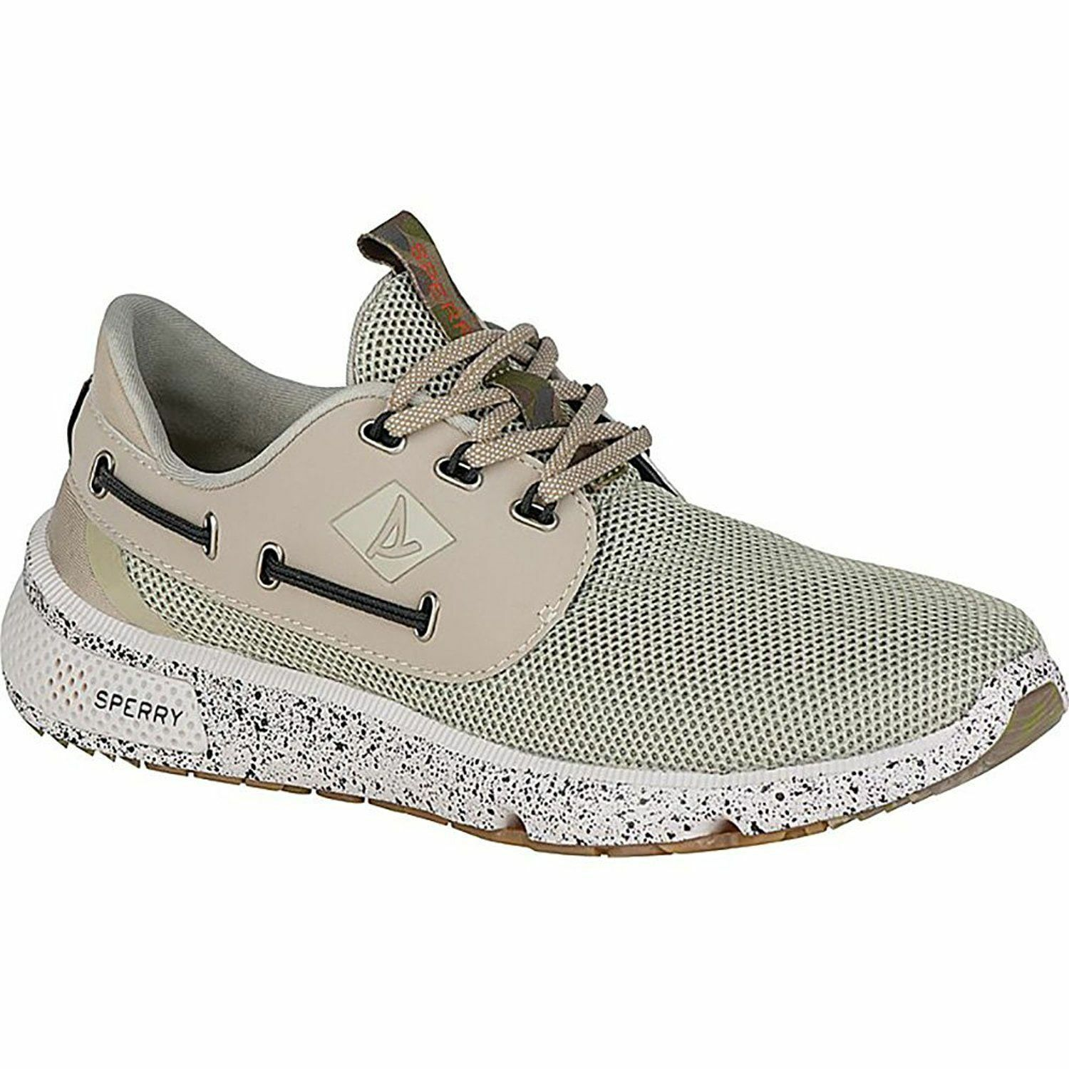 Sperry Top-Sider Men's 7 Seas 3-Eye Camo Boating shoes, White Camo,8.5M WAS110