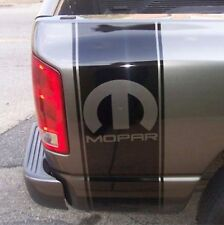 "Truck vinyl decal, racing stripe Dodge Ram rear bed ""Mopar"" logo (both sides)"