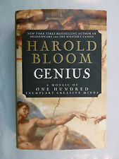 Genius : A Mosaic of One Hundred Exemplary Creative Minds by Harold Bloom (2002, Hardcover)