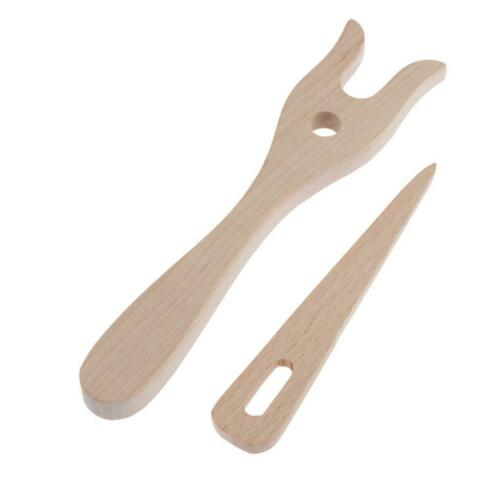Länge 15,7 cm//11cm Holz Strickgabel zum Basteln von Kordeln