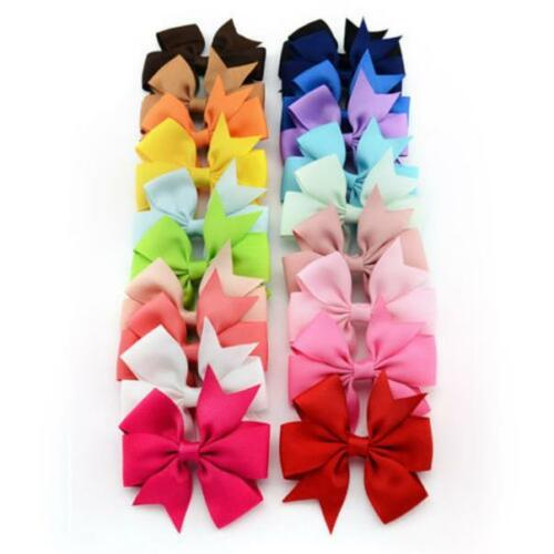 Multicolor Baby Girl Hair Bows Boutique Hair Grosgrain Ribbon Alligator Clip Hot