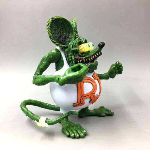 "4/"" White RAT FINK Big /""Daddy/"" Ed Roth Action Figure No Box"