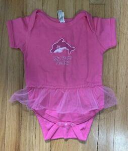 Infant Girls Pink My Beach Buddy Dolphin Tutu One Piece 100 Cotton 24 Months Ebay