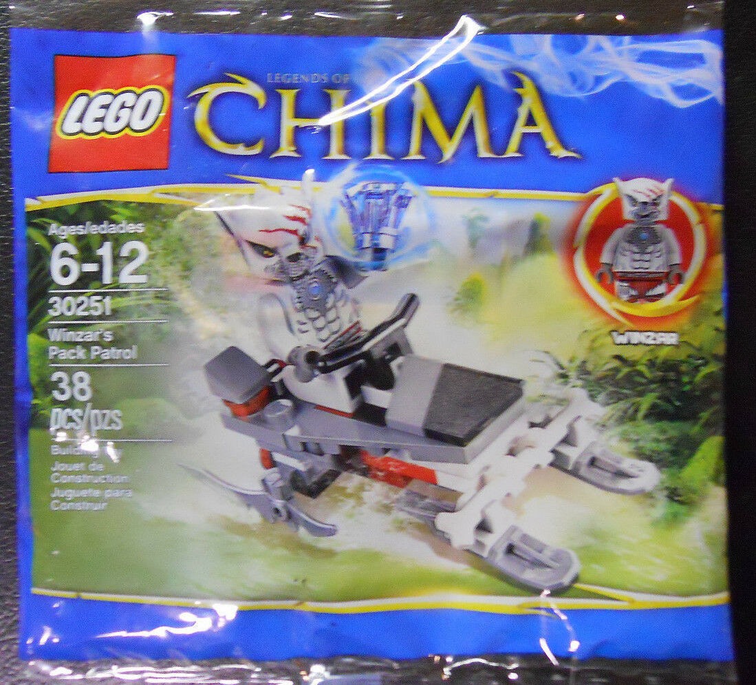 NEW SEALED Bag 38 pcs Lego Legends of Chima Winzar/'s Pack Patrol 30251 Free SHIP