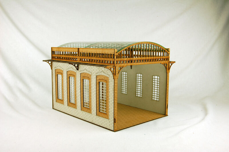 Gas Lamp Alley VICTORIAN COVERED MARKET STATION MDF scale Building 28mm G051