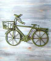 Cottage Chic Decor Bicycle Wall Sculpture Rustic Metal Art Vintage Style Beach