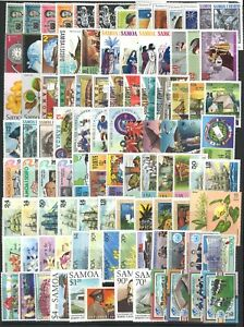Samoa-100-Different-Stamps-in-Glassine-Bag-All-Mint-Unhinged-In-Complete-Sets