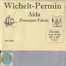 "Wichelt-Permin 16Ct Touch of Grey Aida XStitch Fabric 18"" x 25"" #355-306A"