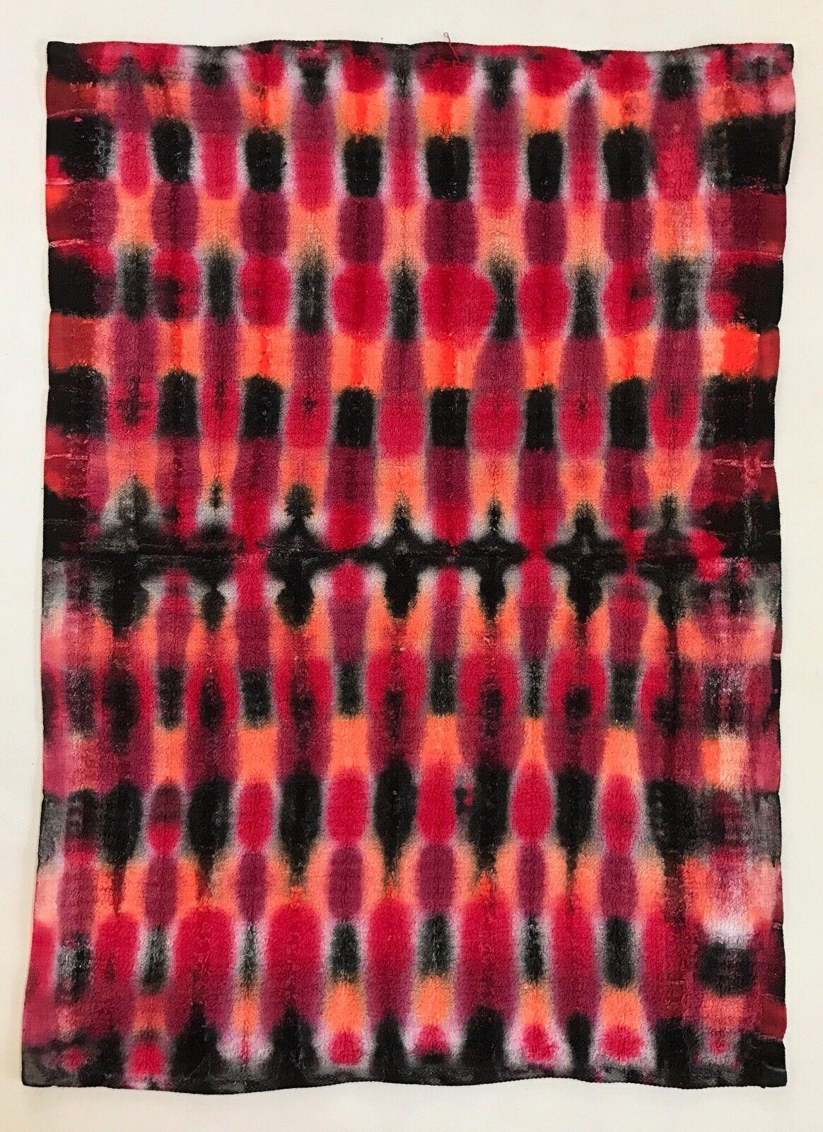 *New* Handmade Tie Dye Red Lava Lamp Washcloth Hand, Bath Towel, Single or Set