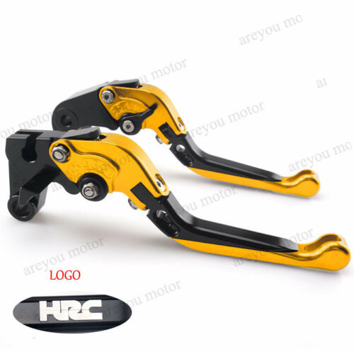 CNC Motorcycle Adjustable Brake Clutch Levers Hand Grips For HRC CBR1000RR 08-16