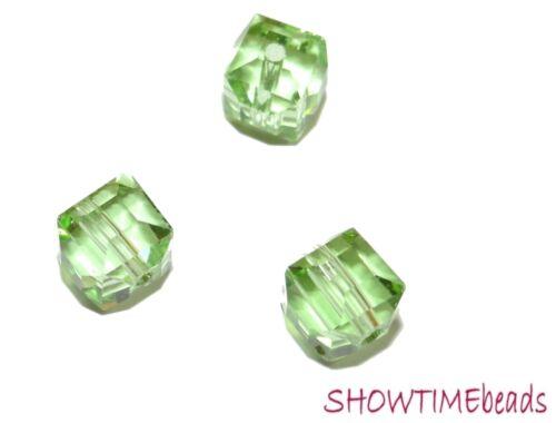 cube vert clair 8mm 10 pièces Facett-parierait