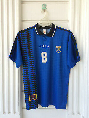 Vintage Original Adidas Argentina Away World Cup USA 1994 Shirt #8 Jose Basualdo   eBay
