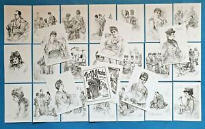NEW-Set-of-26-A6-Postcards-Illustrations-from-The-Mikado-1888-by-C-W-Allers
