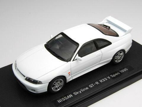 Entrega gratuita y rápida disponible. Ebbro 1 43 Nissan Skyline GT-R R33 V Spec 1995 1995 1995 blancoo de Japón  sorteos de estadio